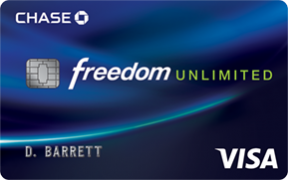 Chase Freedom Unlimited® credit card photo