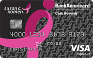 Susan G. Komen® Cash Rewards Visa® credit card from Bank of America photo